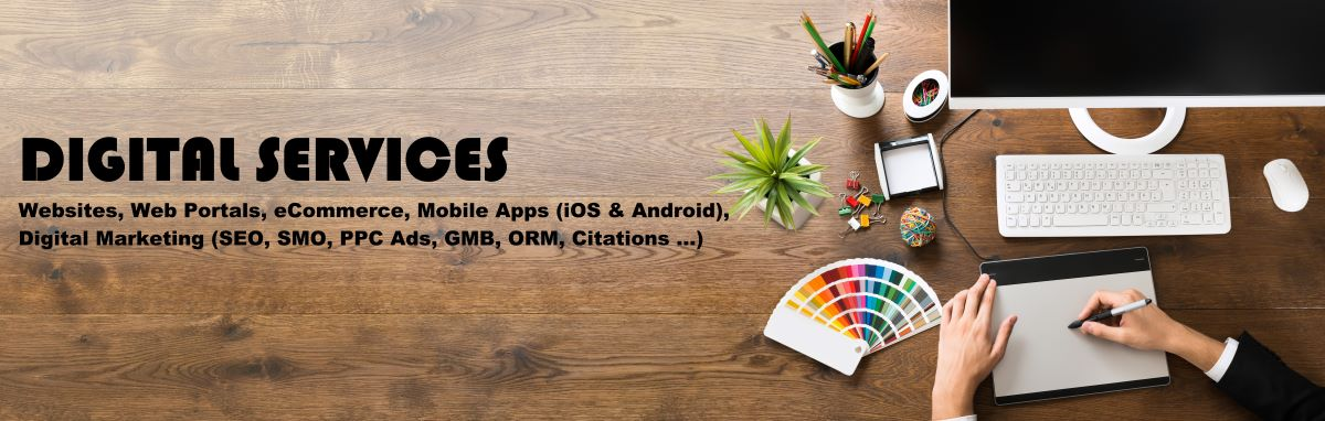 Digital Agency; Digital Services, Responsive Websites; Web Portals; eCommerce; Online Shopping; UI; UX; Mobile Apps; iOS Apps; Android App; Digital Marketing; SEO; SMO; SEM; SMM; GMB; ORM; Local Citations; PPC Ads; Google Ads; Facebook Ads; LinkedIn Ads; Appointments; Book Appointments; GoKutty.com